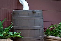 downspout to rain barrel